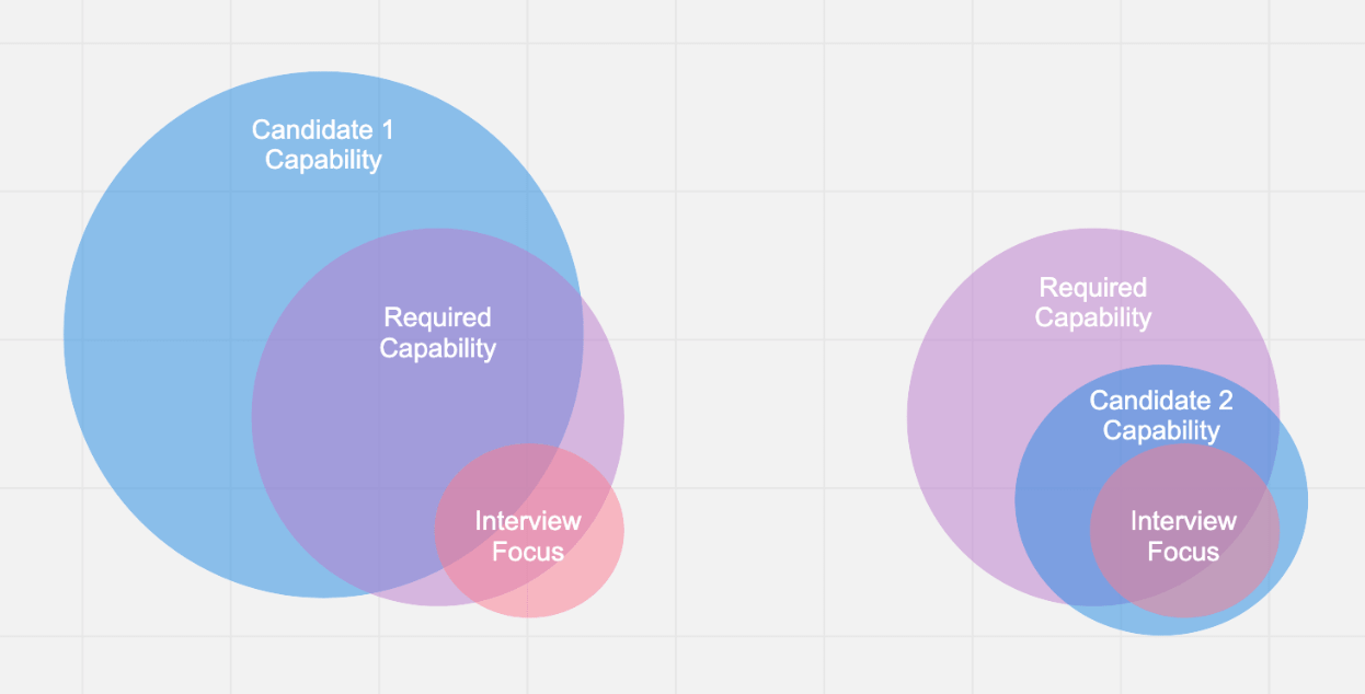 Venn diagram showing capabilities discerned during interview.